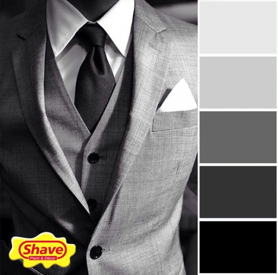 colour-inspiration mono tie and suit