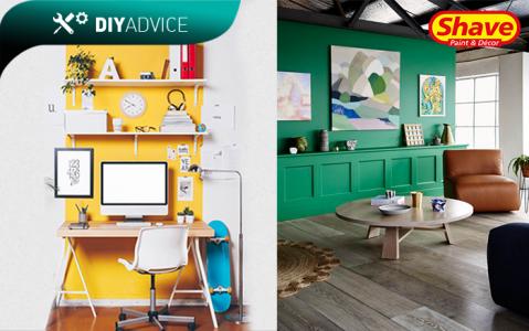 DIY Advice: Tips on Painting Your Feature Wall In A Bright Colour