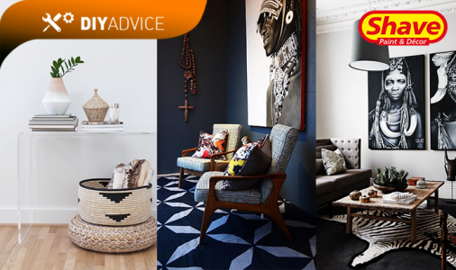 African inspired decorating in home
