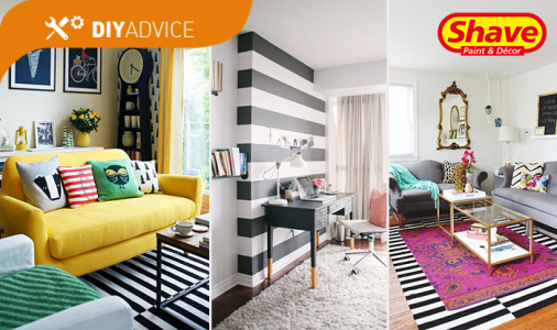 DIY Advice: How to decorate with stripes