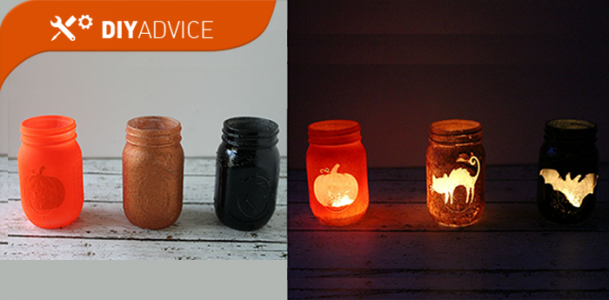 DIY Advice: Halloween Mason Jars Luminars