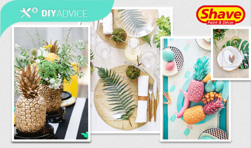 DIY Advice: Tropical-inspired table decor