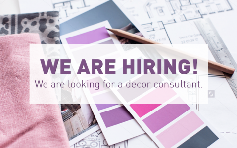 We are hiring: Decor Consultant
