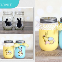 DIY Advice: Easter Bunny Treat Jars