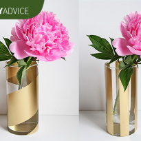 DIY Advice: Gold Striped Vases