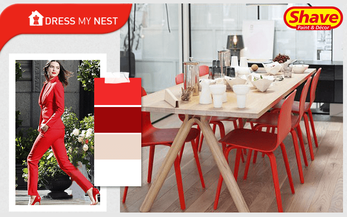 DRESS MY NEST HOT OFFICE RED