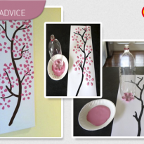 DIY Advice: Cherry Blossom Art