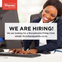 We Are Hiring – Receptionist / Filing Clerk