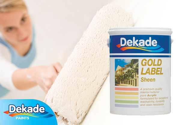 Dekade Gold Label Sheen interior paint at Shave Paint