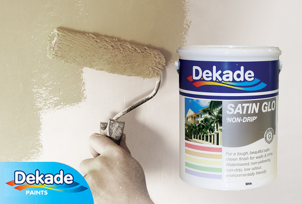 Dekade Satin Glo interior paint at Shave Paint